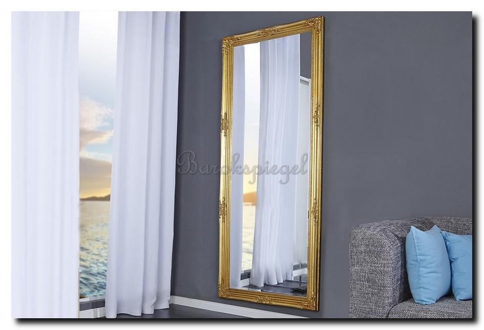Mediterrane spiegel goud woonkamer