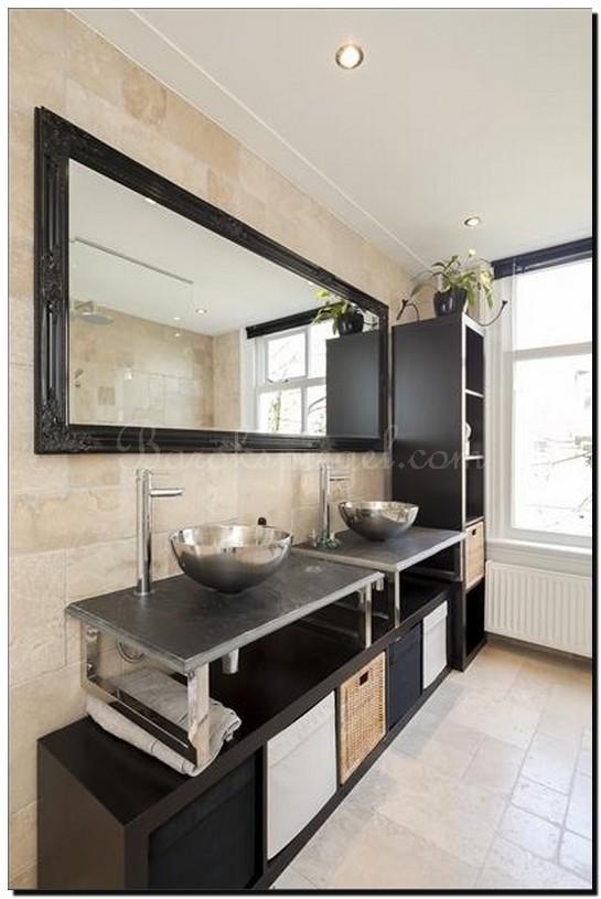 Spiegel groot zwart badkamer