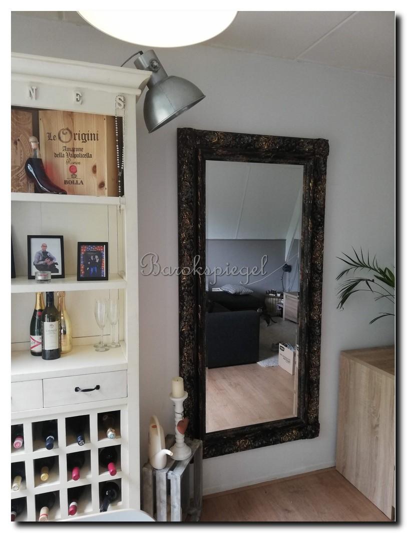http://foto.barokspiegel.nl/allesandro/Grote-wandspiegel-shabby-zwart-met-goud-80x180