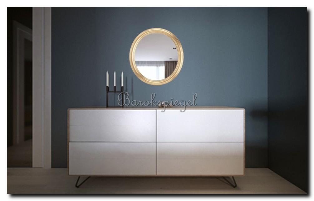 http://foto.barokspiegel.nl/colin/ronde-spiegel-met-gouden-rand-boven-dressoir
