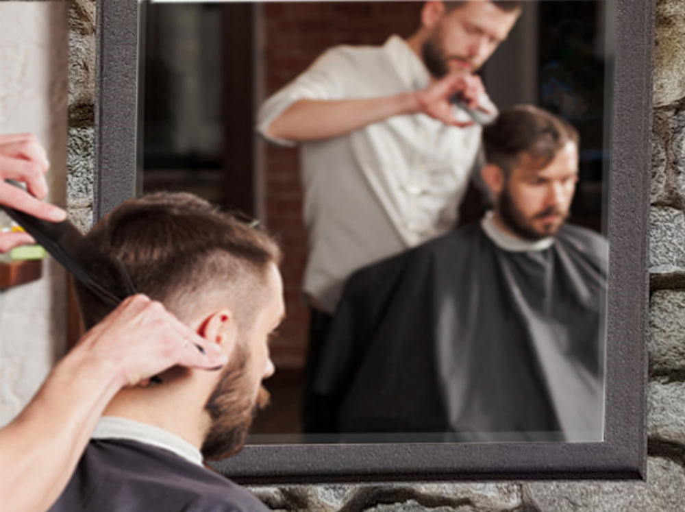 Barbier spiegel barbershop roestlook spiegel