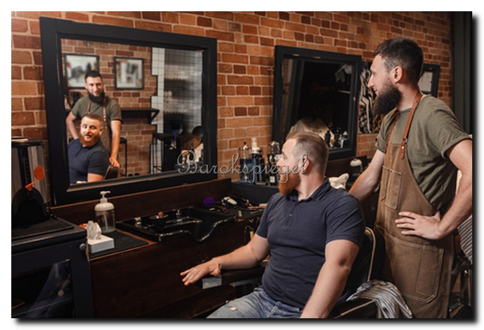 Barbier spiegel barbershop herenkapsalon