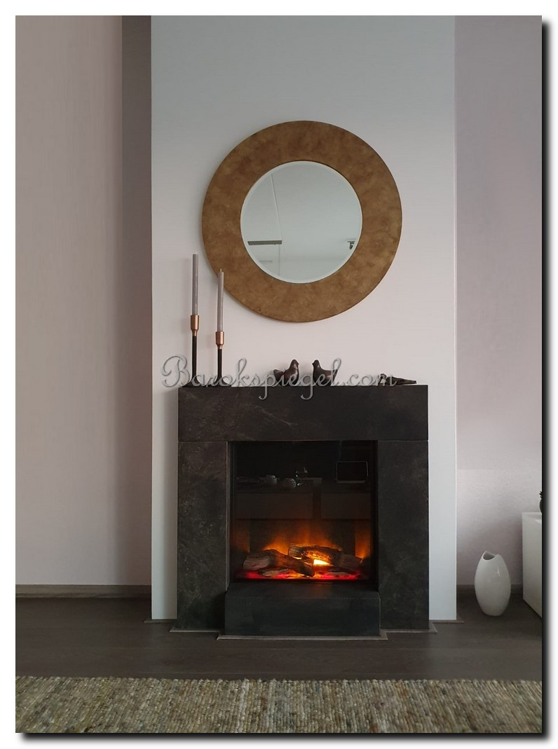 http://foto.barokspiegel.nl/nunzia/Ronde-spiegel-brede-rand-lijst-antiekgoud-modern-strak-boven-open-haard.jpg