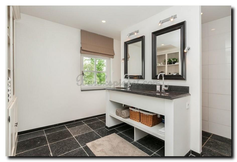 Moderne badkamer spiegel zwart