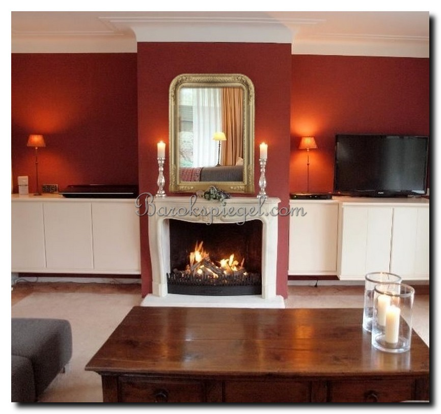 http://foto.barokspiegel.nl/romeo/schouwspiegel-antiek-goud-boogspiegel-boven-open-haard-op-rode-muur.jpg